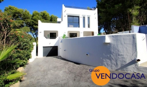 Ibiza style villa with sea views in Morai